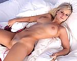 Busty girl masturbating