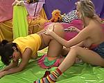 Teen lesbians at play