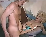 Big blonde rides the cock