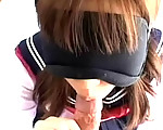 Blindfolded blow job