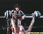 Horny weight lifter