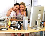Lesbian office girls