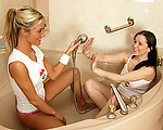 Lesbian shower fun
