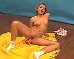 Masturbating on the studio floor