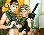 Lesbian teens in uniform