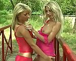 Outdoor lesbian fun