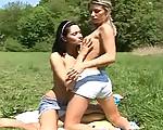 Lesbian outdoor fun
