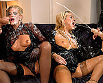 Fashion Lesbos Showered In Cum